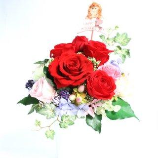 プリザーブドフラワー[カレン]母の日お値打ちギフト/真紅バラが素敵