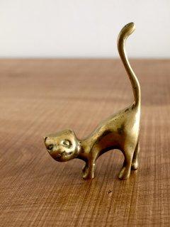 ヴィンテージ 真鍮の猫 (リングホルダー)