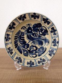 ルーマニア コロンド焼 絵皿(21cm)