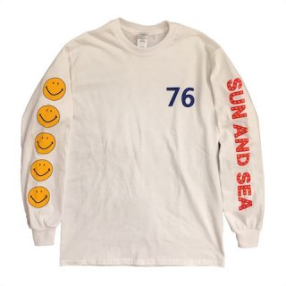 SUN AND SEA / 70's Smile Long Sleeve T