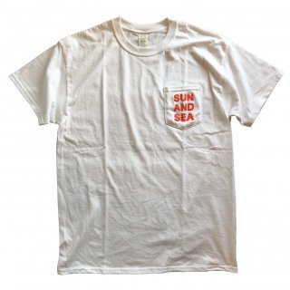 SUN AND SEA / Square Logo Pocket T-Shirt