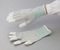 アズピュアESD手袋オーバーロックタイプ指先コート1双当たり284円