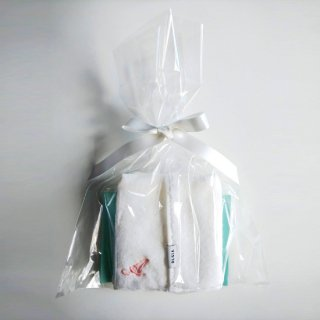 OLSIA Premium イニシャル刺繍ハンカチタオル