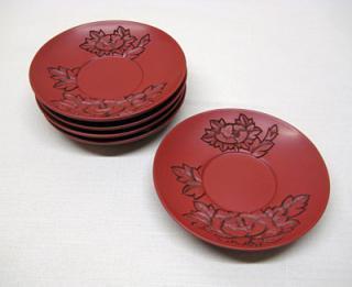 茶托(牡丹)5枚組