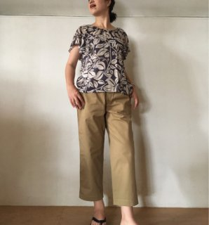 maison de soil(メゾンドソイル)COMFORTABLE CROPPED PANTS [GNMDS1501C][WOMEN]