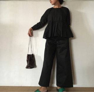 maison de soil(メゾンドソイル)ONE TUCK WIDE PANTS 12OZ CHINO [GNMDS1752C][WOMEN]