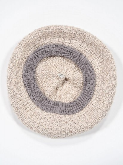 mature ha.  beret knitted linen MAS19-21 1