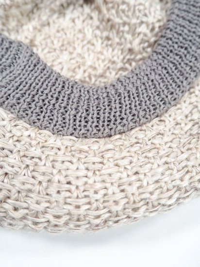 mature ha.  beret knitted linen MAS19-21 2