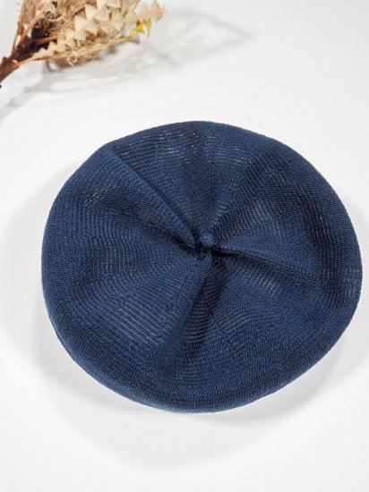 mature ha.  beret top gather linen MLK-01 3