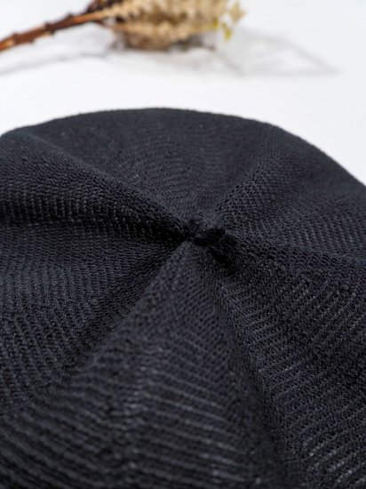 mature ha.  beret top gather linen MLK-01 5