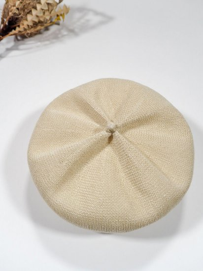 mature ha.  beret top gather linen MLK-01 8