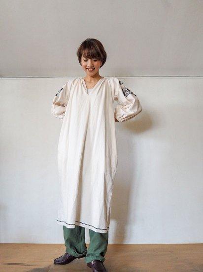pompon  ハンド刺繍ギャザーワンピース  POBL-236SS 8