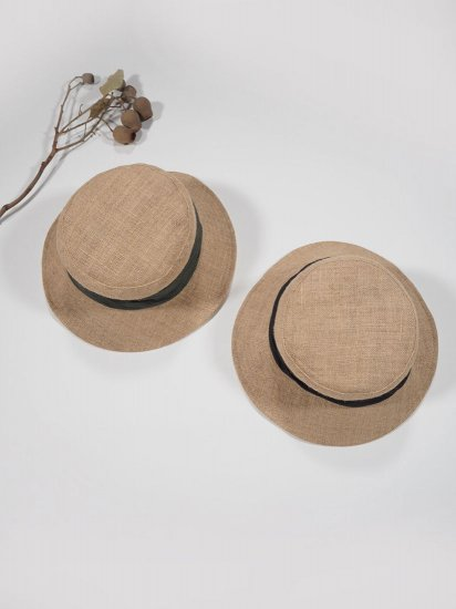 mature ha.   JUTE DRAPE HAT MIDDLE MJT-01M 1
