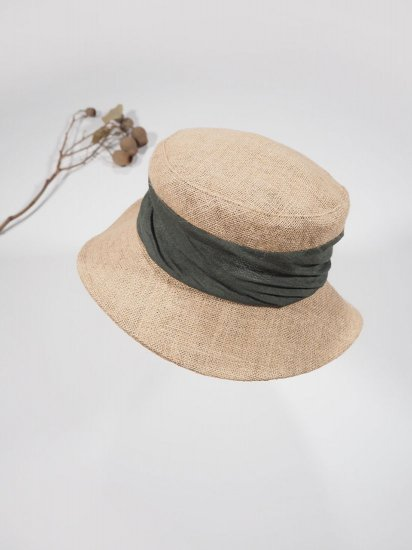mature ha.   JUTE DRAPE HAT MIDDLE MJT-01M 2