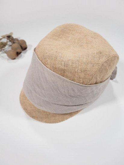mature ha.  JUTE SCARF CAP MJT-03 7