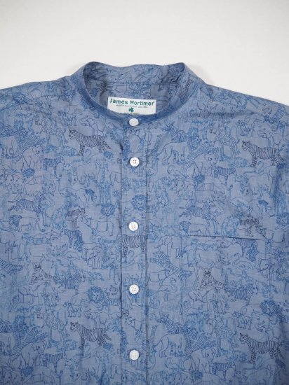 James Mortimer  BAND COLLAR SHIRT BANDD 0