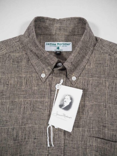 James Mortimer  BD COLLAR SHIRT GLEN 0