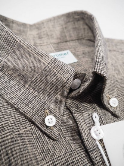 James Mortimer  BD COLLAR SHIRT GLEN 1