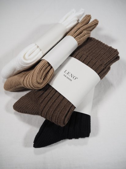 LENO  COTTON RIB SOCKS (Small) L2001-S001 0
