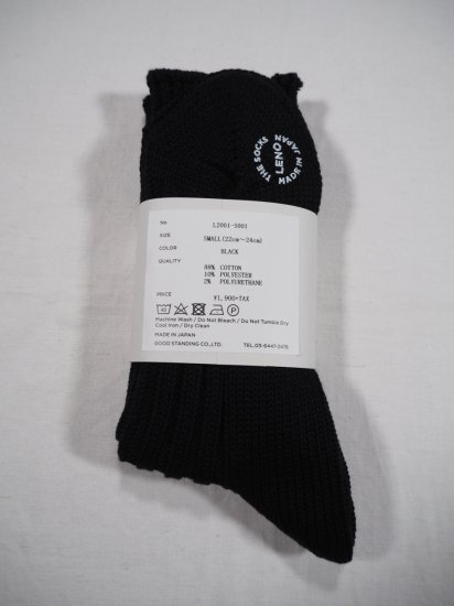 LENO  COTTON RIB SOCKS (Small) L2001-S001 1