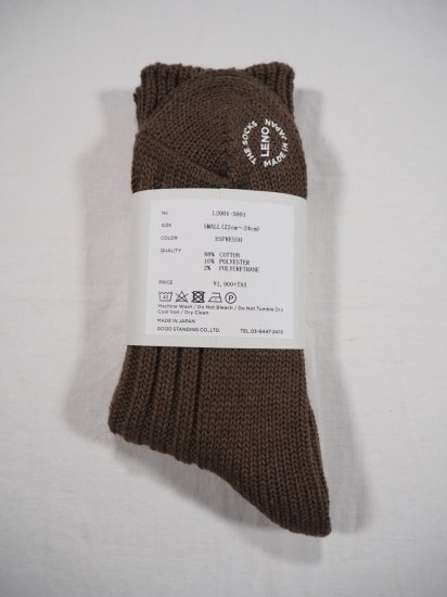 LENO  COTTON RIB SOCKS (Small) L2001-S001 2