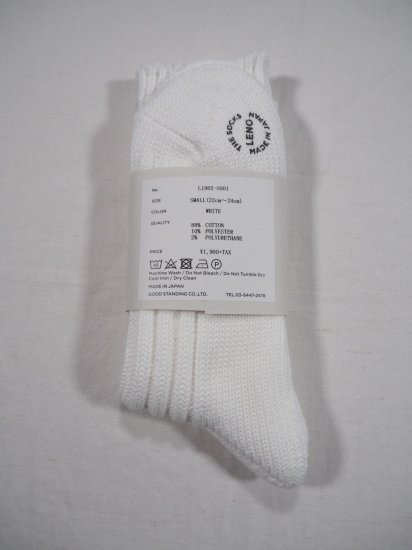 LENO  COTTON RIB SOCKS (Small) L2001-S001 4