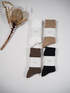 LENO  COTTON RIB SOCKS (Small)
