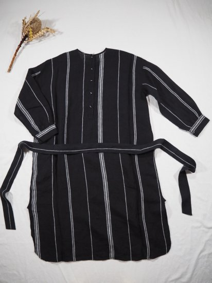 maison de soil  BACK OPENING CREW-NECK SHIRT DRESS NMDS20032 4