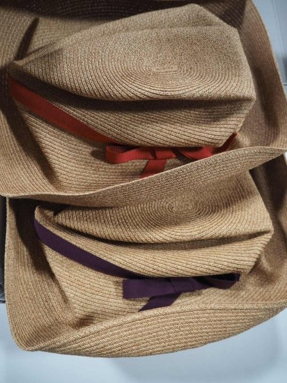 mature ha.  BOXED HAT 11� BRIM [grosgrain ribbon] MBOX-101 2