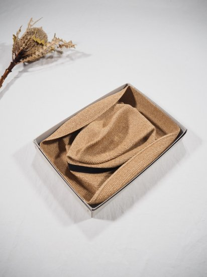 mature ha.  BOXED HAT 11� BRIM [grosgrain ribbon] MBOX-101 4
