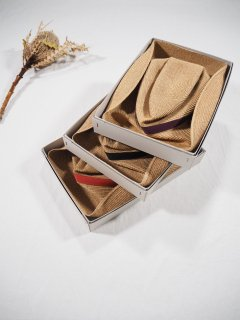 mature ha.  BOXED HAT 11� BRIM [grosgrain ribbon]