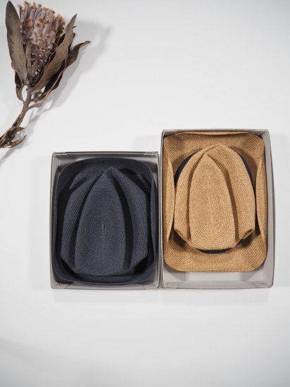 mature ha.  BOXED HAT 7� BRIM [grosgrain ribbon] MBOX-104 4