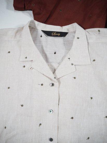 Squady リネンオープンカラーシャツ 410-1278 6