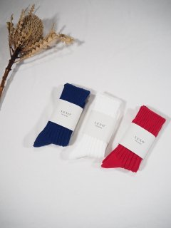 LENO  Cotton Rib Socks(Small)