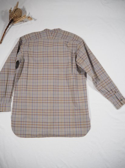 LENO  BAND COLLAR PULLOVER SHIRT H2002-SH002 3