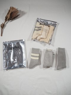 Rototo ORGANIC COTTON SPECIAL TRIO SOCKS