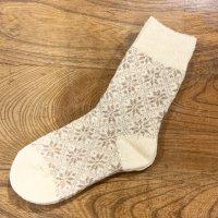 カントリーヘッジ サフォーク靴下 雪柄