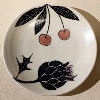 古賀智織 小皿 黒い花