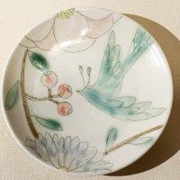 古賀智織 小皿 鳥と花