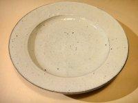 江原法雄 粉引き 8寸リム鉢