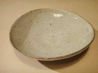 江原法雄 灰釉 楕円鉢