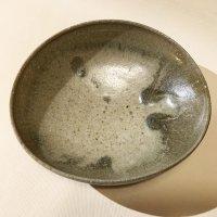 江原法雄 灰釉 7寸楕円鉢-1