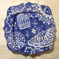 堀中由美子 青い鳥 飾り皿