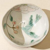 古賀智織 中鉢 鳥と花