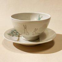 古賀智織 子供飯碗と4寸皿のセット1