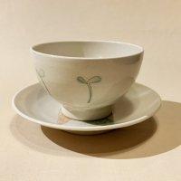 古賀智織 子供飯碗と4寸皿のセット2