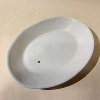 石川裕信 楕円皿 白磁