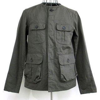 CASH CA NO COLLAR JACKET(オリーブ)