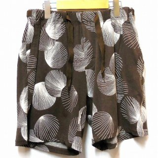 EOTOTO SEA SHELL PATTERN SHORTS(ブラウン)
