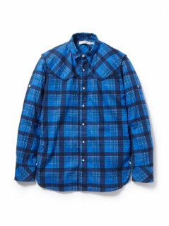 nonnative RANCHER SHIRT COTTON PIQUE CHECK